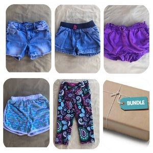 Other - 4 Shorts & 1 Pants Bundle Girls 2T